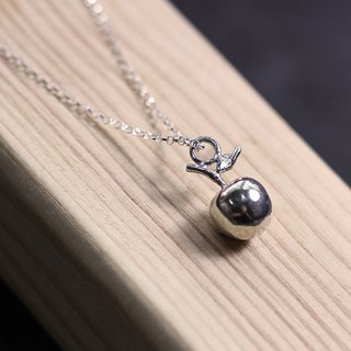 Apple 3D 925 Silver Necklace