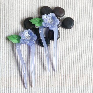 Color of Something New, U-shaped hairpin, hairpin, hair plug - Purple
