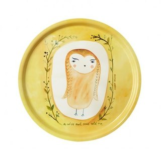 Wise Owl Limited Hand-painted Dinner Plate | Donna Wilson