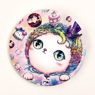 Good meow kawaii ka wa い い hand-painted ceramic water coaster ~ ♥ sweet cat