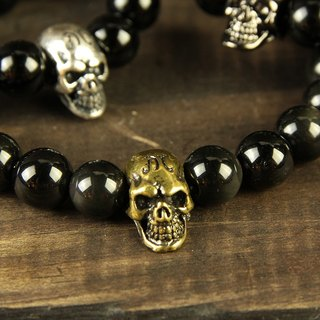 [METALIZE]Skulls 8MM Beaded Bracelet 骷髅8MM Beaded Bracelet