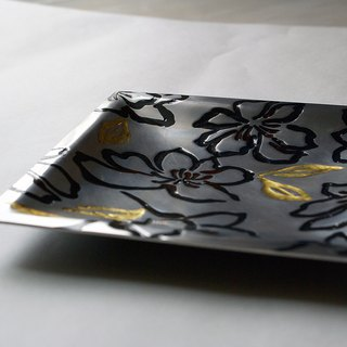 Metalworking lacquer small dish ~ Whispering Whispers ~ Aluminum alloy with paint workmanship, hand-made poems of life art!