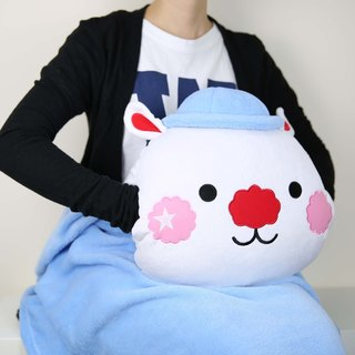 Star Rabbit Sing Sing Rabbit Warmer Cushion Blanket Set