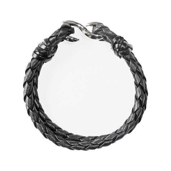 Chainloop homemade hand made double ring braided leather bracelet