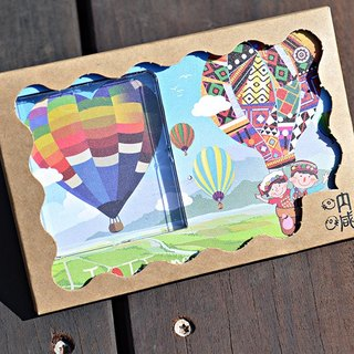 Taiwan Series ~ Taitung hot air balloon ~ 30 seconds sound and light can record photo frames photo cards festival gift recording sightseeing