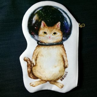 Cat in Space Glass Bowl★Bag / Pencil Case