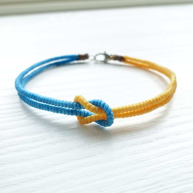 <KNOT> Simple square knot XS mini small dog / cat pet collar waterproof hand-tailored
