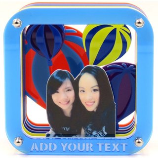Customized perspective Puzzles Frame - hot air balloon theme x Personalized