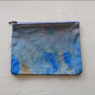 [ZhiZhiRen] Universal zipper bag - great artists - Blue Orange