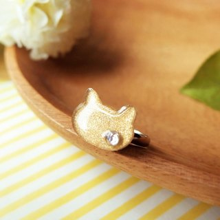 Meow gold cat ring