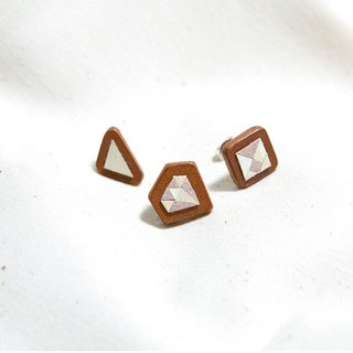 """Collage Leather"" a pair of earrings"