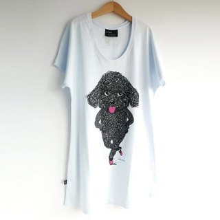 : Urb [tap] female poodle / Long T-shirt / onesize.