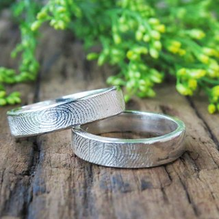Retouch ReShi / basic narrow version of the fingerprint ring (female) / 925 sterling silver / custom hand-made