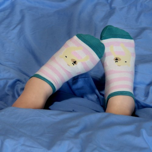 Department of Zoology good storm gift socks / pink striped socks MIT Shetou