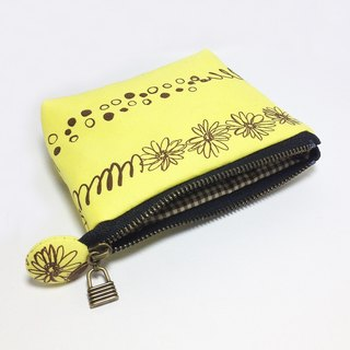 Casual graffiti yellow flower purse