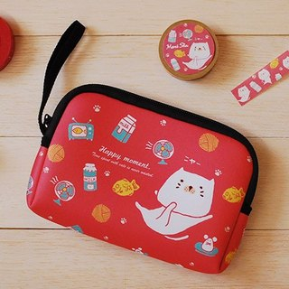*Mori Shu*Passport Travel / Mobile Hard 3C package - bun cat yaki subsection (red)