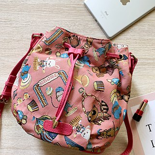 Videos jacquard woven leather bucket bag happy circus