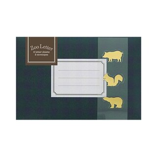 [Japanese] Letter Set LABCLIP series Zoo stationery set / Green