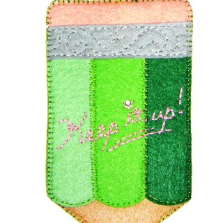 Pencils card holder - Green