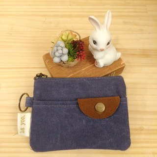 Pocket bag! Three card holder purse (denim blue)