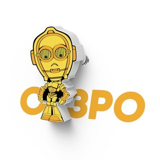 3D Light FX - Star Wars EP7 Mini Series C-3PO - 3D立體迷你燈 星際大戰EP7系列 C-3PO