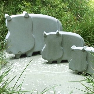 Greenology Hippopotamus Decoration (Set of 3)