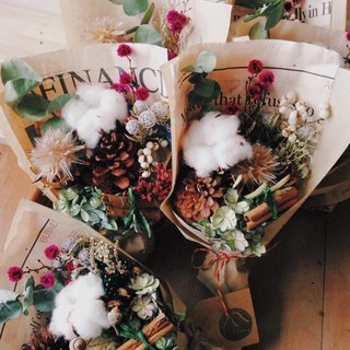 Enjoy life. Winter dry small bouquet