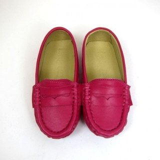 Fort Tony Wang leather handmade shoes kids [sheep / bean bottom / pink] ★ ★ Recommended section Apple beat West