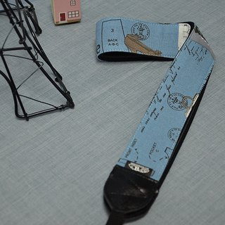 Fashion blue decompression strap camera strap Uke Lili Camera Strap