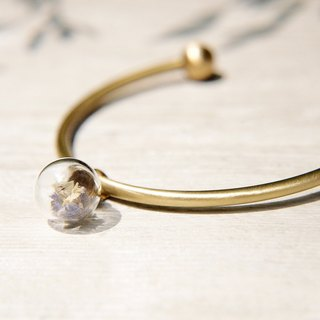 / Forest Department / British sense of design glass balls bronze bracelet / bracelet - Crystal grass lavender +