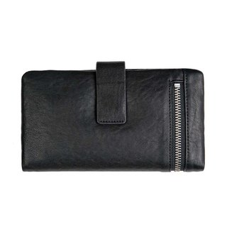 ESTHER Long Clip _Black Bubble / Black Grain Leather