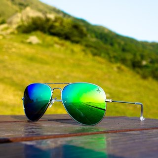 2NU - Sola Sunglasses - Green Revo