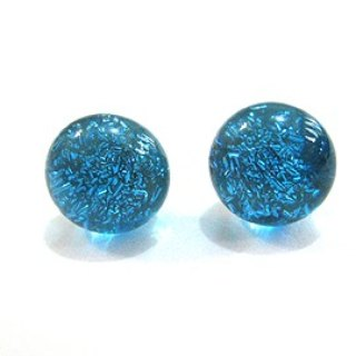 Light blue / silver jewelry glass earrings (very cool in summer)