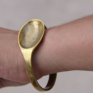 Golden Spoon shaped brass bracelet