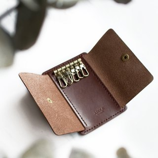 [ADOLE] leather hand made DIY set - key bag - Jiao brown