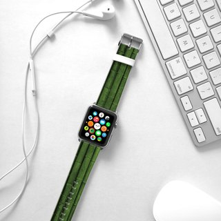 Apple Watch Series 1  , Series 2, Series 3 - Green Bamboo Pattern Watch Strap Band for Apple Watch / Apple Watch Sport - 38 mm / 42 mm avilable