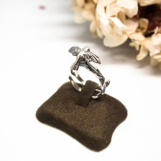 "Love Fly Bird Silver Open Ring Gift For Her Lover My Wife Christmas Anniversary Birthday Engagement Free Size ""Fly Bird"" by IONA SILVER"