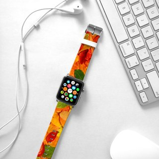Apple Watch Series 1 , Series 2, Series 3 - Leaves Autumn Falling Watch Strap Band for Apple Watch / Apple Watch Sport - 38 mm / 42 mm avilable