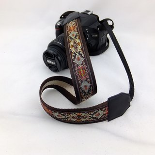 Camera strap can print personalized custom leather stitching national wind embroidery pattern 023