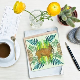 <Nutrients islands> Greeting Cards / Taiwan muntjac (Single)