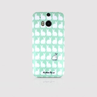 (Rabbit Mint) Mint Rabbit Phone Case - Little Rabbit Pattern Series - HTC One M8 (P00066)