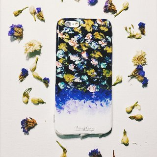 Gradient series ll violet blue fireworks festival ll hand-painted oil painting wind mobile phone shell
