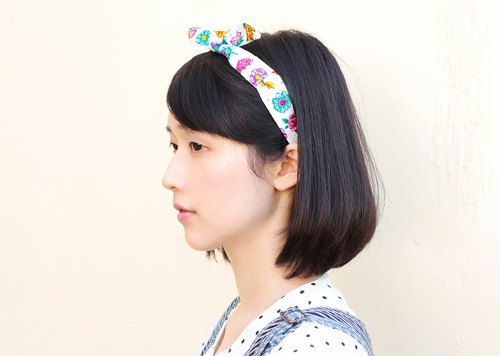 [] The MAMA's Closet cotton cloth hair bands - flower s