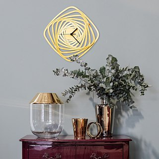 Whirl - contemporary modern wall clock made of wood, wooden clock, wood wall art
