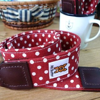 Camera strap. Shuiyu sweet little red hand-made cotton