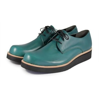 Hazel M1126 Dark Green leather sneakers