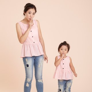Light sweet Family fitted vest - Pink Lady