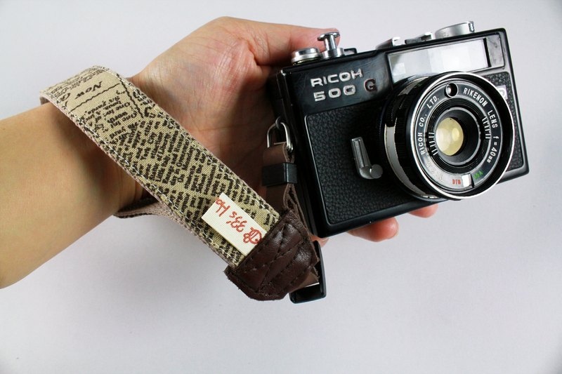 Hand-made monocular Class monocular, camera, cell phone wrist strap. Wrist rope --- true of newspapers and magazines section Leather