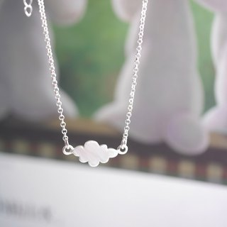 Handmade Cotton Candy Cloud Necklace - Custom Hand Stamped