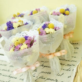 Amor Floral - Pass the happiness mini dry bouquet (a group of 3) / wedding small things / bridesmaid / bride / groom / photo props